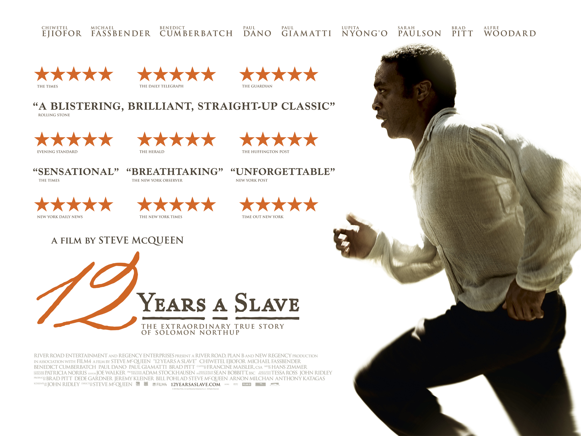 The film 12 years of slavery, 2013