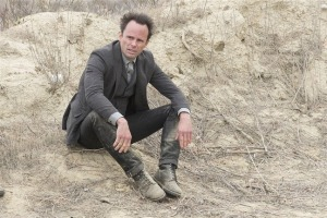 Walton Goggins as the outlaw Boyd Crowder.