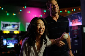 Gaby (Sandra Ow) and Howie (Aaron Eckhard) having fun.