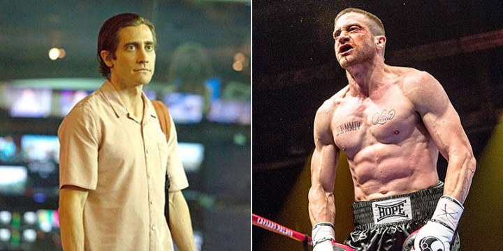 Gyllenhaal in Nightcrawler vs Gyllenhaal in Southpaw.
