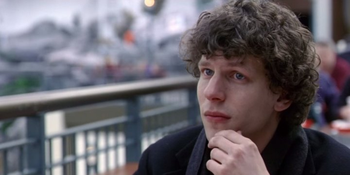 Jesse Eisenberg as David Lipsky.