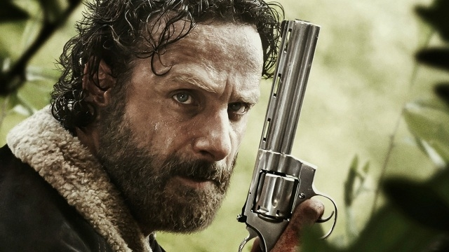 The Walking Dead's gun toting Rick Grimes played by Andrew Lincoln.