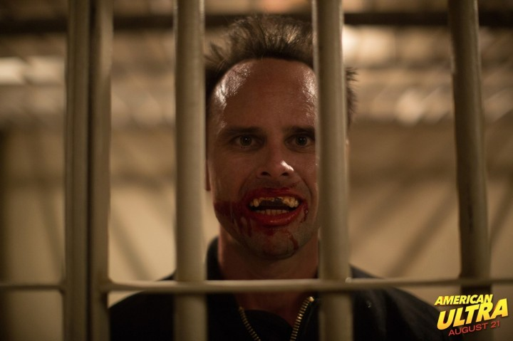 Walton Goggins as psychotic CIA spook 'Laughter' in American Ultra.